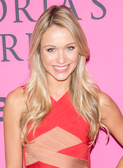 Katrina Bowden's Long, Blonde, Wavy, Tousled, Hairstyle