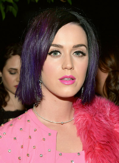 Katy Perry with a Short, Straight, Funky, Bob Hairstyle Pictures