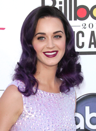 Katy Perry's Party, Funky, Wavy, Medium Hairstyle