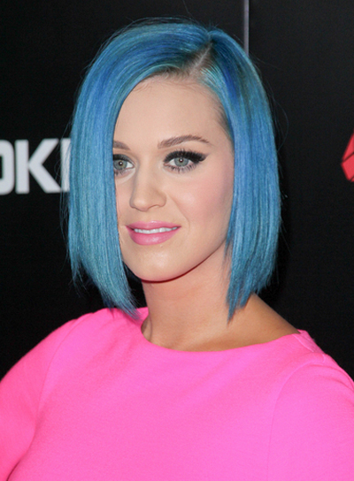 Katy Perry Short, Edgy, Layered, Funky Bob