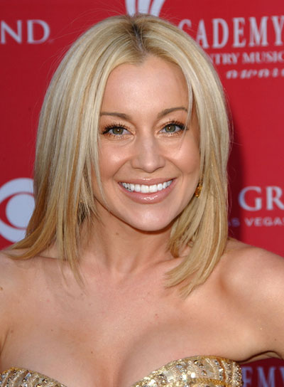 Kellie Pickler Medium, Layered, Straight, Blonde Hairstyle