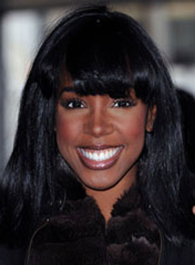 Kelly Rowland Straight Hairstyle with Bangs