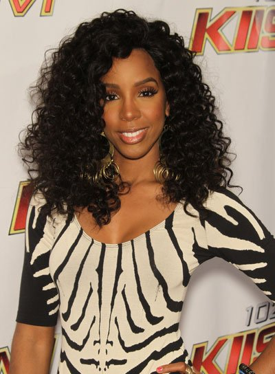 Kelly Rowland Sexy, Black, Curly Hairstyle
