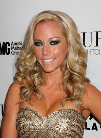 Kendra Wilkinson Long, Curly, Sophisticated, Blonde Hairstyle