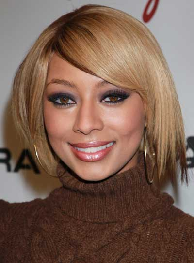 Keri Hilson Short, Straight, Chic Bob