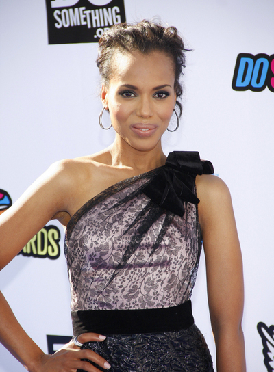 Kerry Washington Sophisticated, Chic, Black Updo