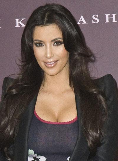 Kim Kardashian Long, Layered Hairstyle