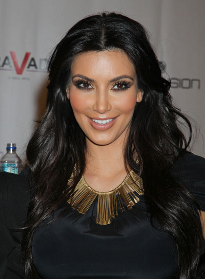 Kim Kardashian Long, Thick, Black Hairstyle