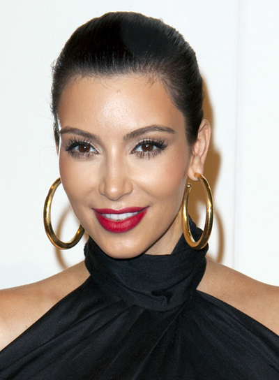 Kim Kardashian Chic, Sophisticated, Black Updo