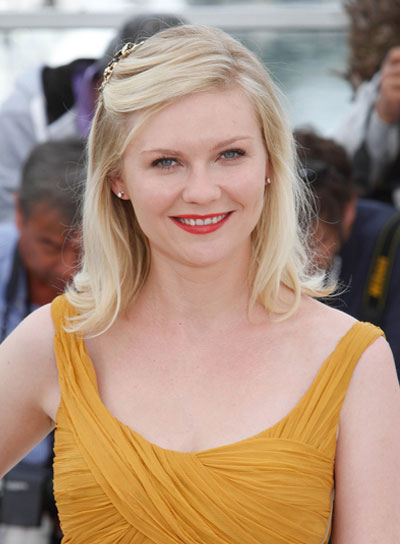 Kirsten Dunst Medium, Sophisticated, Chic, Blonde Hairstyle