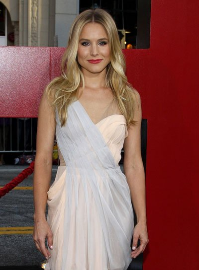 Kristen Bell Chic, Blonde Hairstyle