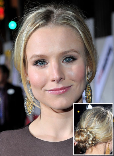 Kristen Bell Chic, Romantic, Blonde Updo