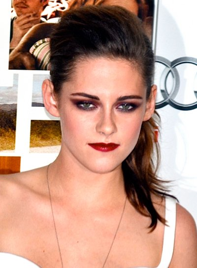Kristen Stewart's Edgy, Brunette, Party, Updo Hairstyle