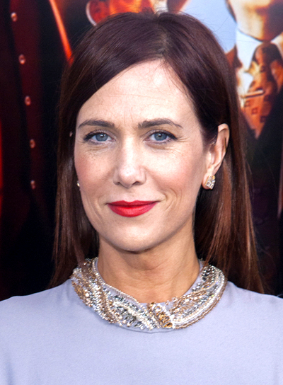 Kristen Wiig with a Long, Chic, Straight, Brunette Hairstyle