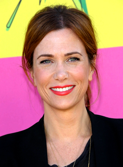Kristen Wiig's Brunette, Chic, Party, Ponytail Hairstyle