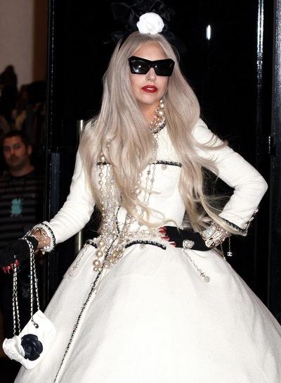 Lady Gaga Long, Layered, Edgy Hairstyle