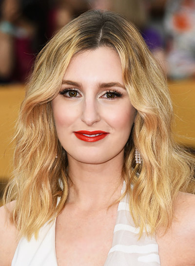Laura Carmichael with a Sexy, Long, Blonde, Wavy Hairstyle Hairstyle Pictures