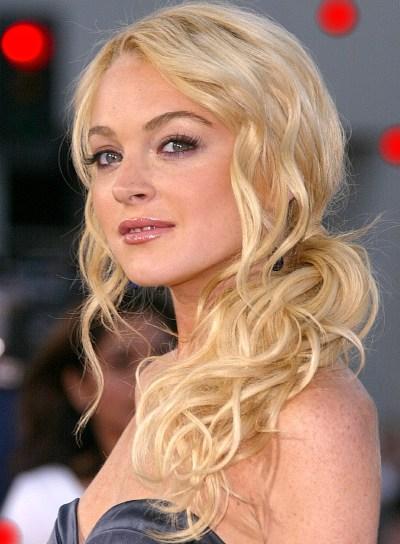 Lindsay Lohan Curly, Blonde Ponytail