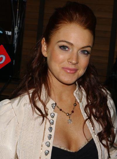 Lindsay Lohan Red, Wavy Half Updo