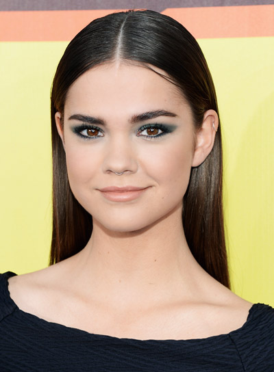 Maia Mitchell's Long, Straight, Brunette, Chic, Sophisticated Hairstyle