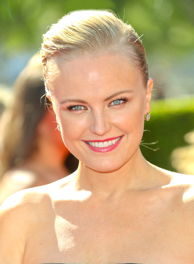 Malin Akerman's Blonde, Edgy, Chic, Updo Hairstyle