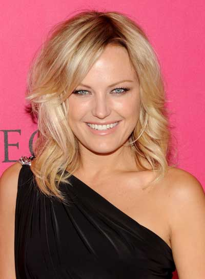 Malin Akerman Medium, Wavy, Sexy, Romantic, Blonde, Prom Hairstyle
