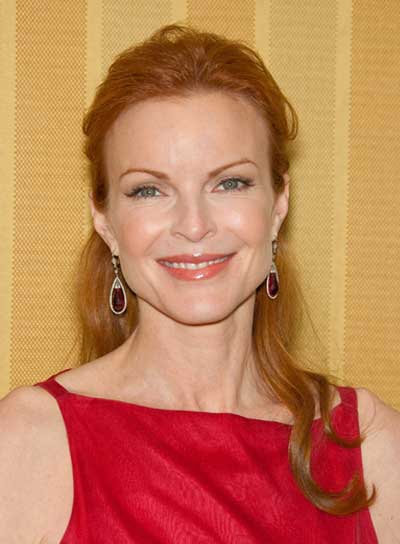 Marcia Cross Sophisticated, Red Half Updo
