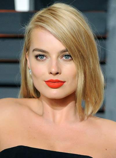 Margot Robbie Short, Blonde, Sophisticated, Bob Hairstyle
