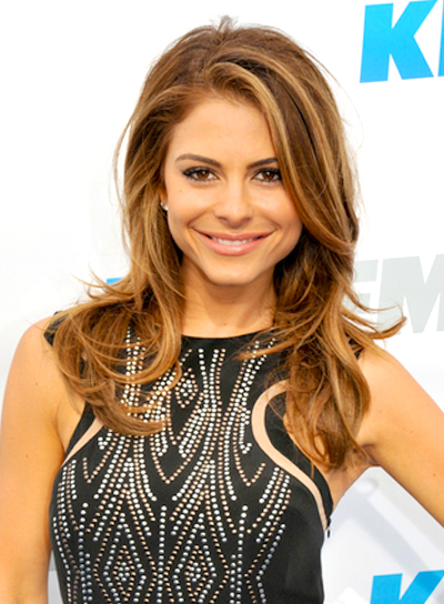 Maria Menounos's Long, Tousled Hairstyle with Highlights