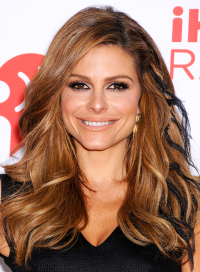 Maria Menounos' Long, Wavy, Brunette, Funky Hairstyle