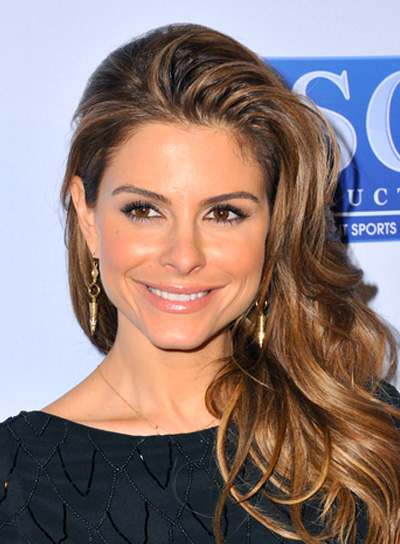 Maria Menounos' Romantic, Brunette, Layered, Wavy Hairstyle