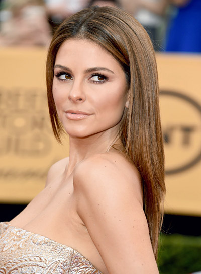 Maria Menounos with a Long, Straight, Chic Hairstyle with Highlights Pictures