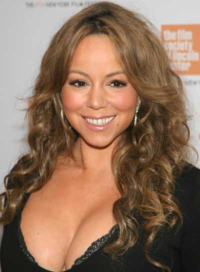 Mariah Carey Long, Curly, Brunette Hairstyle