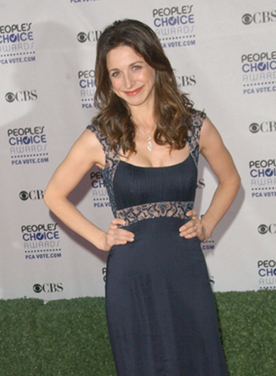 Marin Hinkle Long, Curly, Brunette Hairstyle