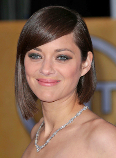 Marion Cotillard's Short, Straight, Chic, Brunette Hairstyle