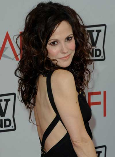 Mary Louise Parker Long, Curly, Tousled, Brunette Hairstyle