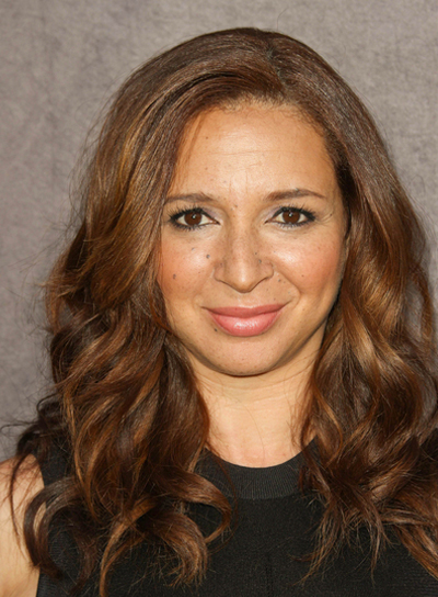 Maya Rudolph Long, Curly, Chic, Brunette Hairstyle