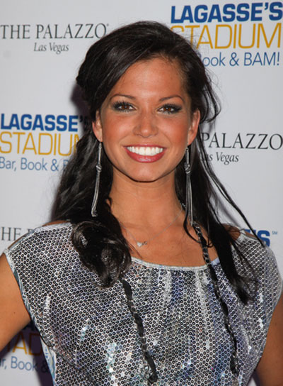 Melissa Rycroft Long, Curly, Romantic, Brunette Half Updo