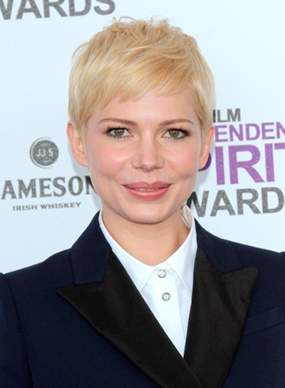 Michelle Williams Short, Blonde Hairstyle with Bangs