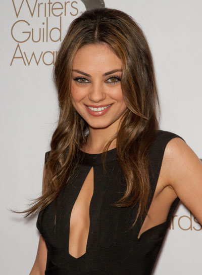 Mila Kunis Long, Sexy Hairstyle