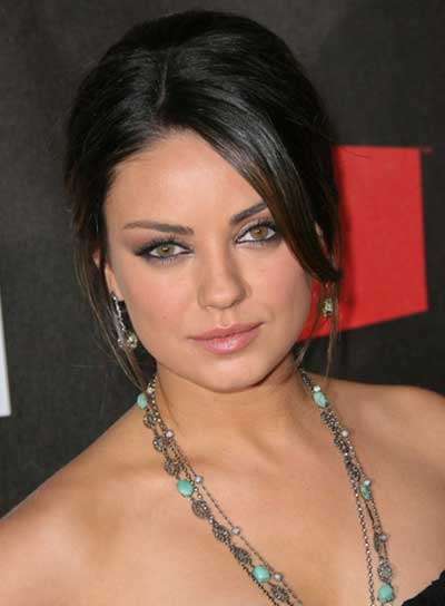 Mila Kunis Straight, Sophisticated Updo