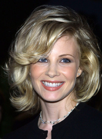 Monica Potter Medium-Length, Wavy, Party Hairstyle