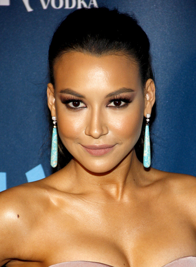 Naya Rivera's Long, Brunette, Wavy, Ponytail Hairstyle