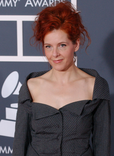 Neko Case Red, Curly, Tousled Updo