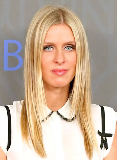 Nicky Hilton's Long, Str