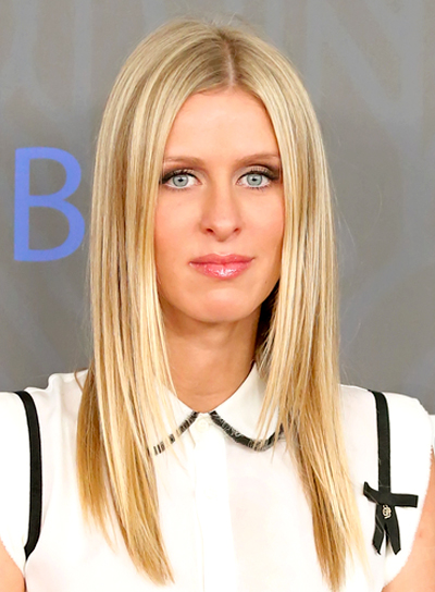 Nicky Hilton's Long, Straight, Chic, Blonde Hairstyle