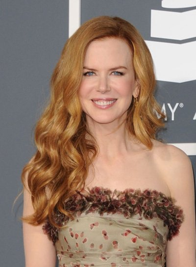 Nicole Kidman Long, Wavy, Sophisticated, Red Hairstyle