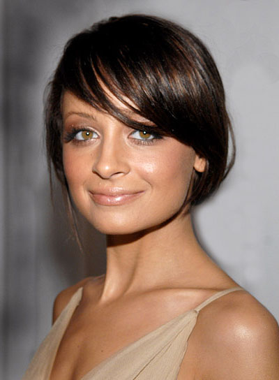 Nicole Richie Long, Straight Updo with Bangs