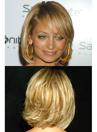 Nicole Richie Short, Straight, Blonde Bob