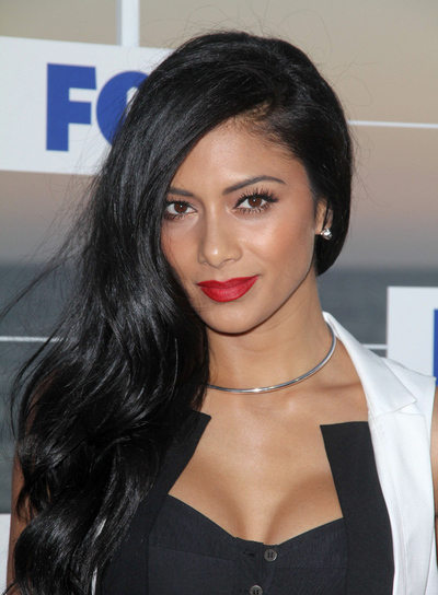 Nicole Scherzinger Long, Wavy, Romantic, Brunette Hairstyle